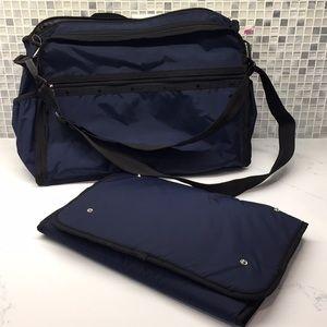 LeSportsac Rebecca Blue Diaper Bag